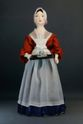 Doll gift porcelain. Costume of a maid. The mid-18th century. France. - view 1