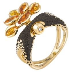 Yellow gold ring - Alilu collection