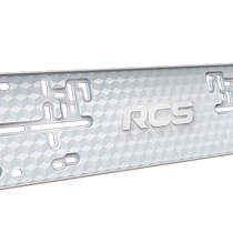 Plastic frame license plate for car RCS-light