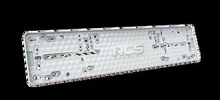 Plastic frame license plate for car RCS-light