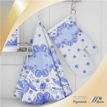 Towel round Gzhel