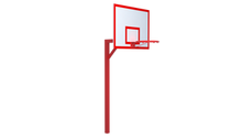 BASKETBALL STAIR WITH SHIELD AND NET