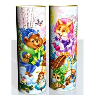 "New Year's gift ""Lesnaya glade"" tube, set of sweets 1200g."