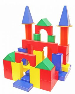"""DESIGNER OUTDOOR oversized""""Builder"""" - color 78 parts (2 boxes ) for children from 3 years"""