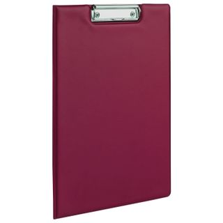 Folder tablet FISMA, A4 (340х240 mm), with holder and lid, cardboard/PVC, RUSSIA, Burgundy