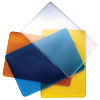 Cover-pocket for travel documents, cards, badges, 98х65 mm, PVC, transparent, assorted, DPS