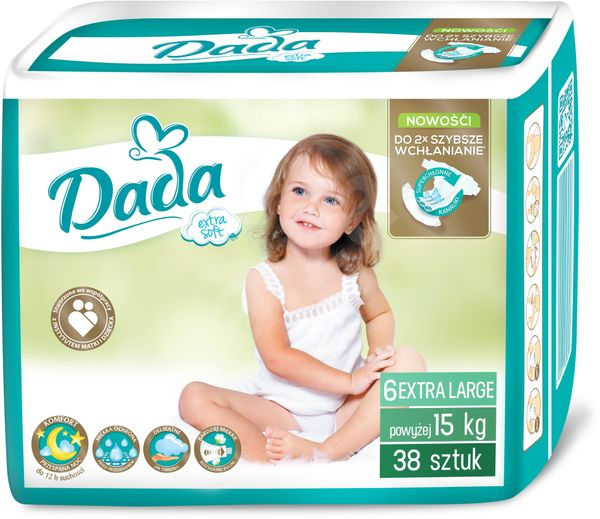 Diapers Dada Extra Soft large 6 (15 + kg), 38pcs