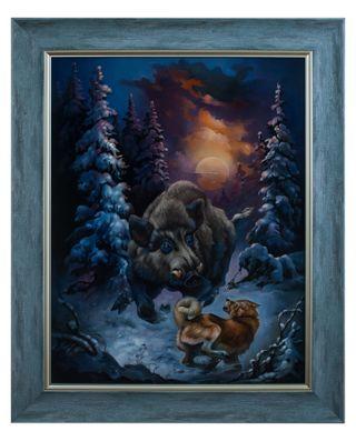 Zhostovo / Painting by Letkov V. 60x49 cm