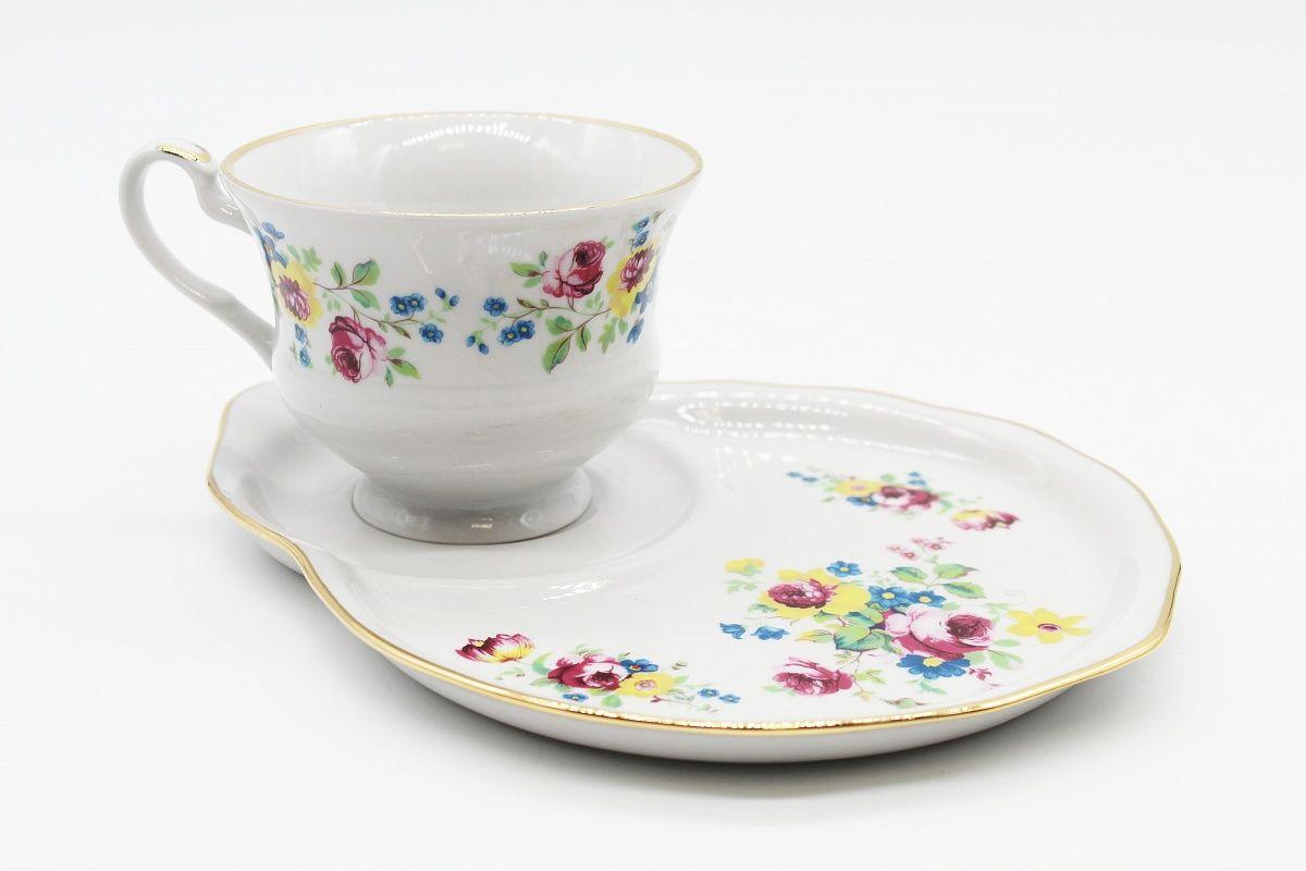 Dulevo porcelain / Gift set 2 pcs. Spring pink bouquet