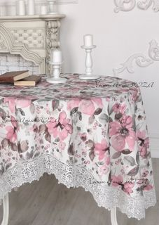 Tablecloth with lace Annette
