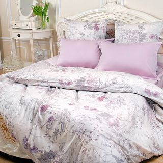 "Mako-sateen bedding set ""Magic of silk"" - ""Ashes of a rose"""