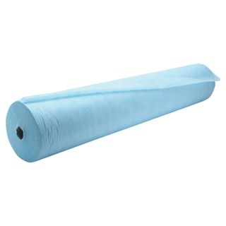 CLEANING / Disposable roll sheets with perforation 100 pcs., 80x200 cm, SMS 14 g / m2, blue