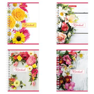 Small FORMAT Notebook (115 x150 mm) A6, 60 sheets, comb, cardboard, cage, selective varnish, BRAUBERG,