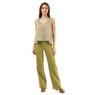 Pants women's city green
