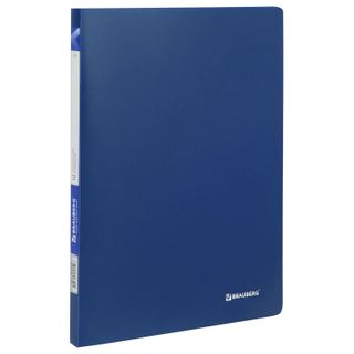 "Folder 10 ear BRAUBERG ""Office"", blue, 0.5 mm, 222625"