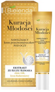 Moisturizing cream against wrinkles around the eyes, BIELENDA YOUTH THERAPY, 15ml