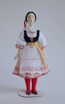 Doll gift. Women's costume of the 20th century, Czech Republic (Bohemia).