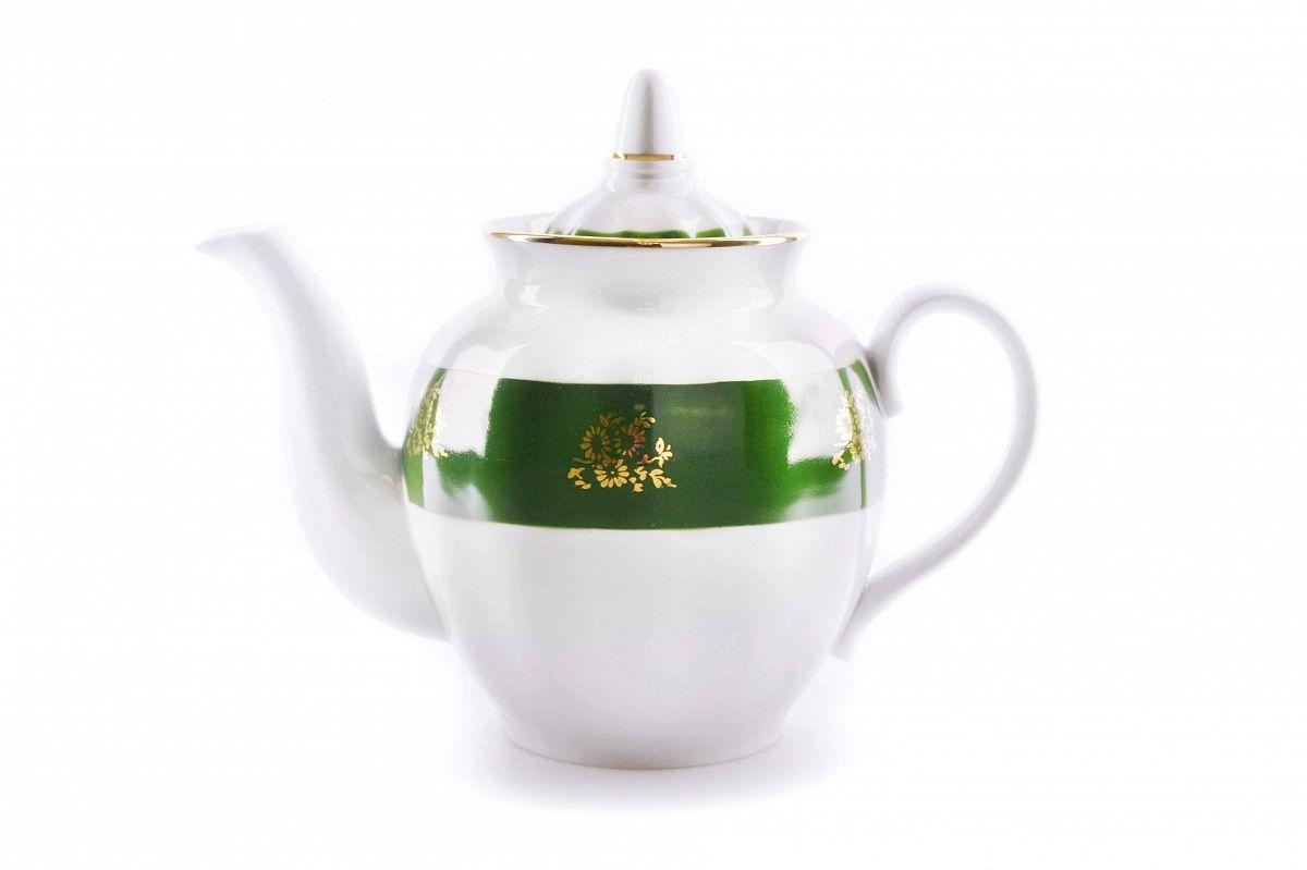 Dulevo Porcelain / Teapot 900 ml Pomegranate Green Board