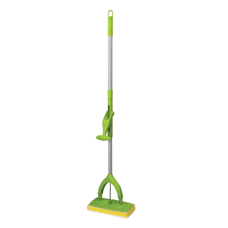 "Self-wringing mop, mechanism ""Butterfly"", sponge / microfiber nozzle 26 cm, telescopic handle 130 cm, LYUBASHA"