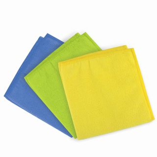 LIME / Universal napkins, microfiber, 25x25 cm, assorted (blue, green, yellow), SET 3 pcs.