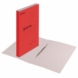 File folder cardboard coated BRAUBERG, guaranteed density 360 g/m2, red, up to 200 sheets