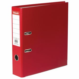 A file folder ESSELTE Economy, plastic-coating, 75 mm, red