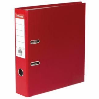 A file folder ESSELTE Economy, plastic-coating, 75 mm, red