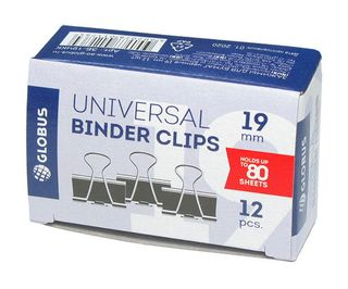 The holders 19 mm, 12 pieces black