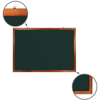 The chalk Board magnetic (100x150 cm), green, wooden painted frame, Russia, BRAUBERG