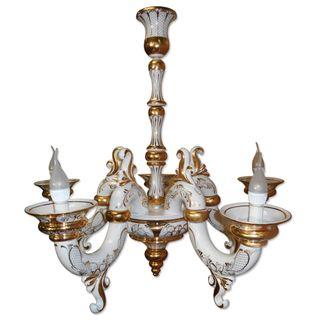 Chandelier Triumf 5-year-carob gold, Gzhel Porcelain factory