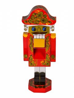 Decorative product The Nutcracker, Khokhloma painting, 30 cm