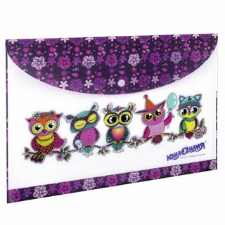 """Folder-envelope with button ONLANDIA """"Smart owl"""", A4, 160 micron, 100 sheets color printing"""