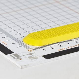 Tactile indicator from polyvinyl chloride PT 33-30x290 I-0 self-adhesive base for time marking.