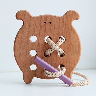 "Lanyard ""Bukashka"" - developing children's wooden toy"