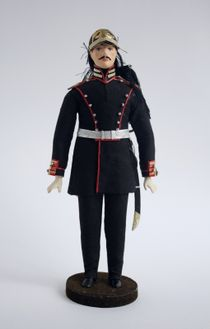 Doll gift. Ober-officer artillery 1855. The military uniform.