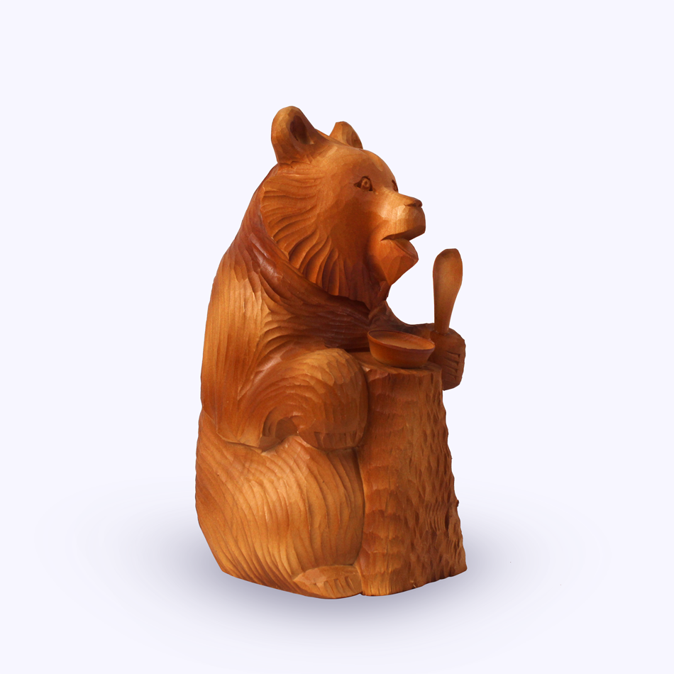 "Bogorodskaya toy / Wooden souvenir ""Breakfast"""