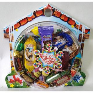 """New Year's gift """"Hut"""", a set of chocolates 750g."""