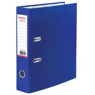 Folder-Registrar with FISMA arch mechanism, coated PVC, 75 mm, blue