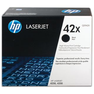 Toner cartridge HP (Q5942X) LaserJet 4250/4350 and others, # 42X, original, yield 20,000 pages.
