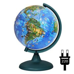 Globe child 210mm backlit on a plastic stand, working from the outlet