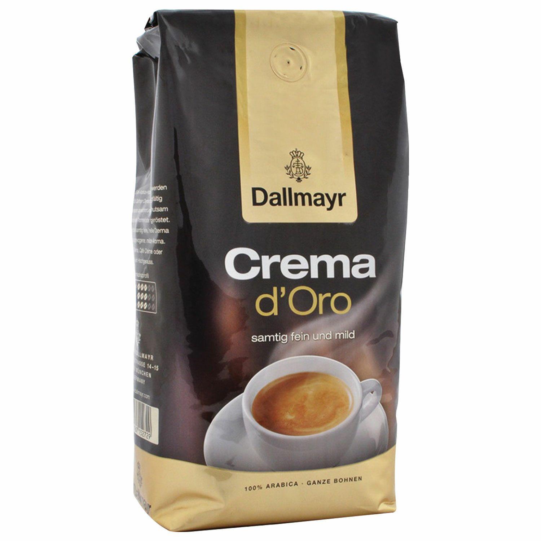 "DALLMAYR / Coffee beans ""Crema d'Oro Selektion"" arabica 100%, vacuum pack 1000 g"