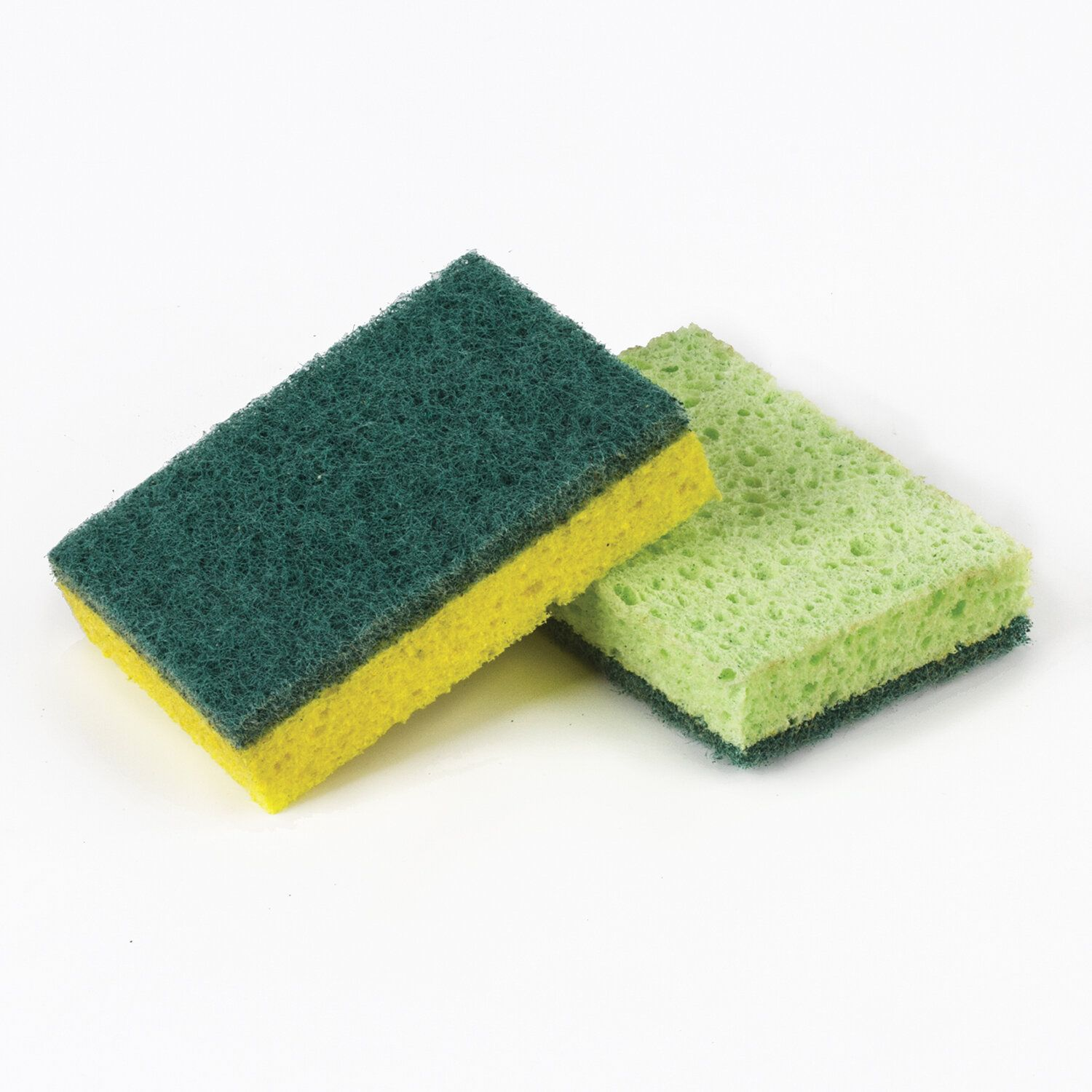 LIMA / Household sponges SET 2 pcs., Cellulose (spongy) with abrasive, 2x9.5x6.5 cm