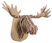 3D figure - The head of the KVK elk. Brown with a wool texture. Brown.
