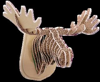 3D shape – a moose Head, KVK Brown textured wool Brown