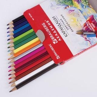 Colored pencils watercolor BRAUBERG