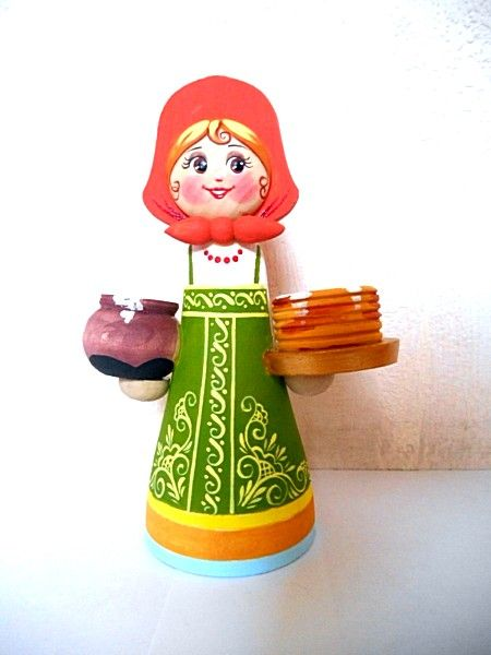 "Tver souvenirs / Composition ""Hostess with pancakes"""