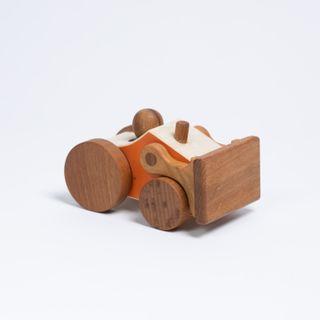 Machine bulldozer - developing children's wooden toy