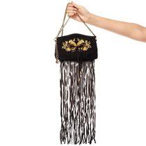 Golden Bird Suede Bag