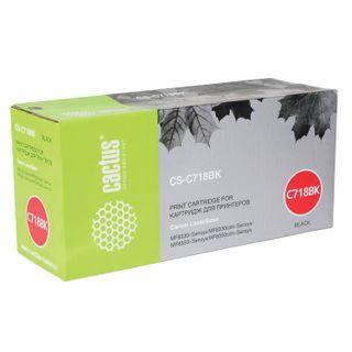 Laser cartridge CACTUS (CS-C718BK) for CANON LBP-7200Cdn / MF8330Cdn / 8350Cdn, black, resource 3400 pages.