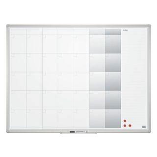 Board-planing FOR a MONTH magnetic marker (90x120 cm), aluminum frame, OFFICE,